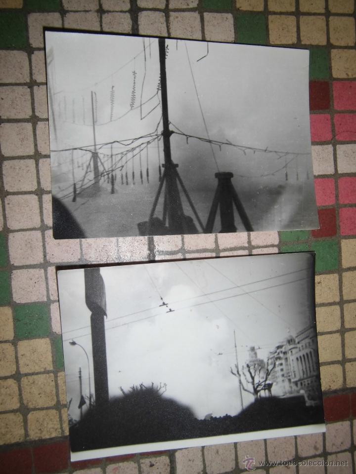 FALLAS FUEGOS ARTIFICIALES PIROTECNIA VALENCIA AYUNTAMIENTO FOTOS ANTIGUAS 1960 ORIGINALES (Fotografía - Artística)