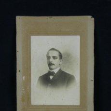 Fotografía antigua: FOTOGRAFÍA CABALLERO CUBANO FOTÓGRAFO OTERO Y COLOMINAS HABANA CUBA 1906 DEDICADA REVERSO. Lote 41109384