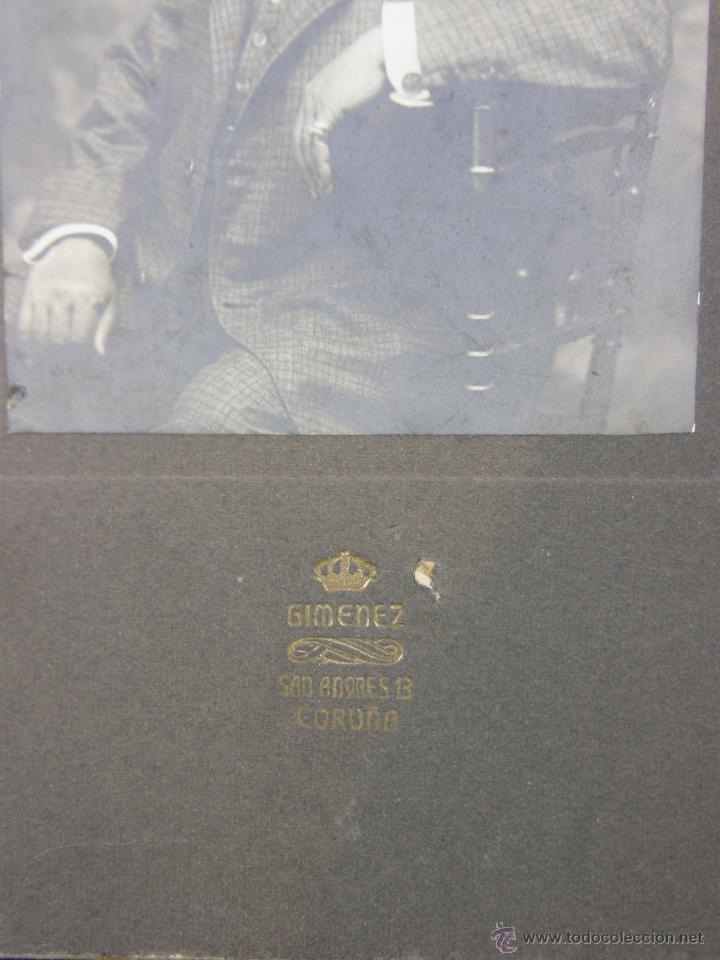 Fotografía antigua: Fotografía señor Caballero dedicada reverso Coruña 1908 fotógrafo Gimenez San Andrés - Foto 4 - 41110017