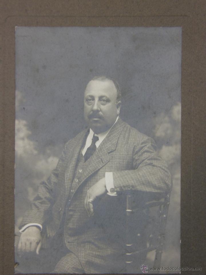 Fotografía antigua: Fotografía señor Caballero dedicada reverso Coruña 1908 fotógrafo Gimenez San Andrés - Foto 5 - 41110017