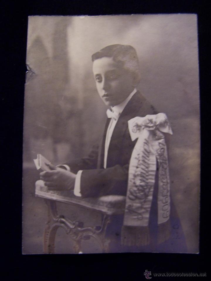FOTOGRAFÍA DE PRIMERA COMUNIÓN DE UN NIÑO 1909 (Fotografía - Artística)