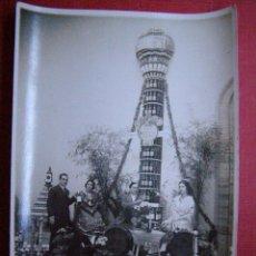 Fotografía antigua: ANTIGU FOTOGRAFIA 17,5 X 12 CM .- STAND DE OSBORNE - FERIA DE MUESTRAS ?? - SERRANO EN REVERSO -. Lote 41750906