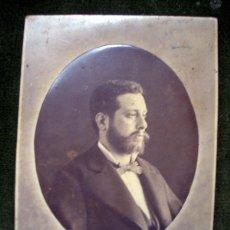 Fotografía antigua: FOTOGRAFIA J. R. SABATER, CASTELLON- RETRATO CABALLERO.CA5. Lote 41795398