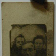 Fotografía antigua: FOTOGRAFÍA ANTIGUA EN CARTÓN FAMILIA // MUY CURIOSA. Lote 41971914