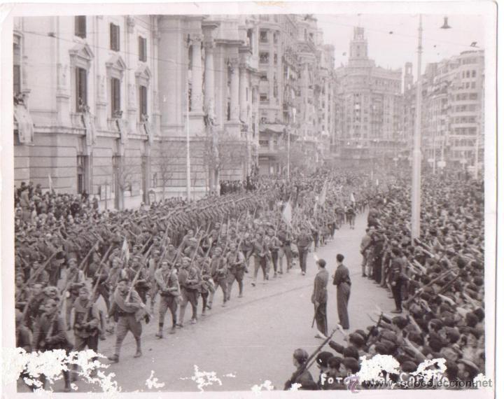 ENTRADA DE LAS TROPAS NACIONALES EN VALENCIA GUERRA CIVIL 1939 FOTO VIDAL CORELLA (Fotografía - Artística)