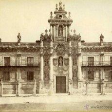 Fotografía antigua: FOTOGRAFIA VALLADOLID FACHADA UNIVERSIDAD LEVY 1888. Lote 42512679