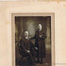 Fotografía antigua: FOTOGRAFIA ANTIGUA HOMBRE Y MUJER - PHOTO RAPHAEL - BARCELONA. Lote 42826370