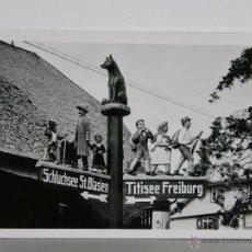 Fotografía antigua: FOTOGRAFÍA ARTÍSTICA BLANCO Y NEGRO SEÑAL SCHLUCHSEE ST BLASIEN TITISEE FREIBURG 9, 5 X 6,5 CM. Lote 42936143