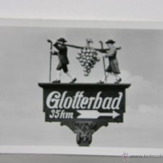 Fotografía antigua: FOTOGRAFÍA BLANCO Y NEGRO SEÑAL GLOTTERBAD 9, 5 X 6, 5 CM . Lote 42936458
