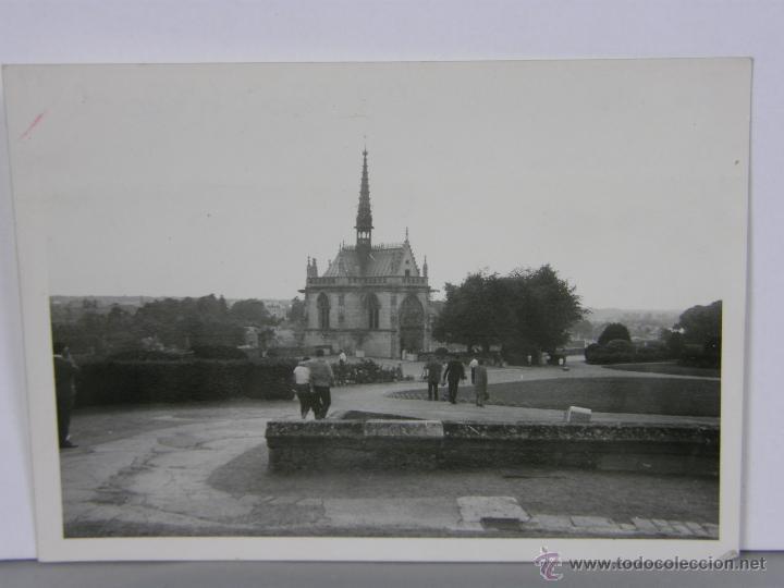 FOTOGRAFÍA BLANCO Y NEGRO LA CAPILLA DEL CASTILLO DE AMBOISE 12, 5 X 9 CM (Fotografía - Artística)