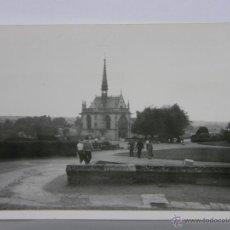 Fotografía antigua: FOTOGRAFÍA BLANCO Y NEGRO LA CAPILLA DEL CASTILLO DE AMBOISE 12, 5 X 9 CM. Lote 42956718