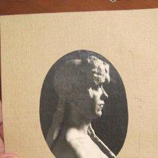 Fotografía antigua: ANTIGUA FICHA DE CARTON, FOTOGRAFIA ESTATUA DE ELENA GIMENEZ ALBENTOSA POR RAMON LLISAS. R-1588. Lote 43191728
