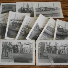 Fotografía antigua: 11 FOTOGRAFIAS DEL REY JUAN CARLOS Y UNOS AMIGOS EN EL YATE SALTILLO - 10,5 X 7,5 CM.. Lote 43268409