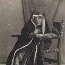 Fotografía antigua: CALVACHE, LA ACTRIZ MARGARITA XIRGU COMO SAN JUANA DE CASTILLO, 1919. Lote 43981355