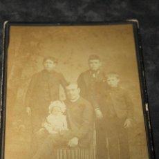 Fotografía antigua: FOTO FAMILIA, DE J. SANCHEZ CARTAGENA, SOBRE 1900. Lote 44198180