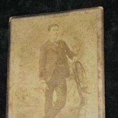 Fotografía antigua: FOTO ANTIGUA SEÑOR, DE LA CAMPANA, CARPIO Nº 1, MADRID. Lote 44199638