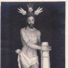 Fotografía antigua: SEMANA SANTA SEVILLA - FOTO DEL ANTIGUO CRISTO ATADO A LA COLUMNA - HDAD DE LAS CIGARRERAS 8X13 CM. Lote 45547163