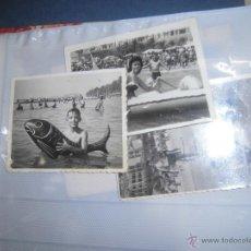 Fotografía antigua: LOTE ANTIGUAS FOTOS PLAYA DE ALICANTE JUEGOS NAUTICOS AÑOS 50. Lote 46062943