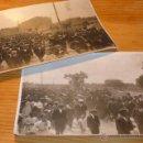 Fotografía antigua: LOTE DE 2 FOTOGRAFIA DE PRINCIPIOS S.XX, MANIFESTACION ? CATALUNYA. . Lote 46255298
