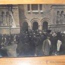 Fotografía antigua: ANTIGUA FOTOGRAFIA DE SABADELL, CON GEGANTS, PRINCIPIOS S.XX. Lote 46256310