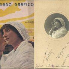 Fotografía antigua: FOTOGRAFÍA ARTÍSTICA DE CANTANTE LÍRICA MERCEDES MASIP 1915 ... CON REVISTA. Lote 46402344