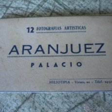 Fotografía antigua: 12 FOTOGRAFIAS ARTISTICAS, ARANJUEZ PALACIO, HELIOTIPIA.. Lote 46535950