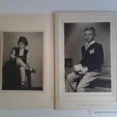 Fotografía antigua: FOTOGRAFIAS, 1ª COMUNIÓN Y VESTIDO CON TRAJE REGIONAL. Lote 46554281