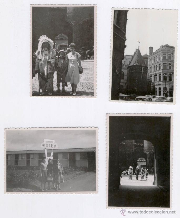 BRUSELAS 1958 - 4 FOTOS ANTIGUAS (Fotografía - Artística)