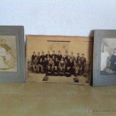 Fotografía antigua: LOTE DE 3 FOTOGRAFÍAS ANTIGUAS. AÑO 1893. VILLOSLADA Y MONTERO. COLEGIO NTRA. SRA. DE LA PIEDAD.. Lote 46750859
