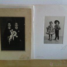 Fotografía antigua: LOTE DE 2 FOTOGRAFÍAS ANTIGUAS. FIDEL - BILBAO. RETRATOS JUMI - GRANADA.. Lote 46764349