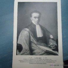 Fotografía antigua: RETRATO FOTOGRAFICO - DESCHIENS EDIT. - PROFESOR MEDICINA LAENNEC , FRANCIA. Lote 47191436