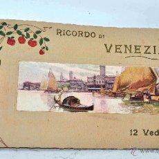 Fotografía antigua: RICORDO DI VENEZIA..12 VISTAS DE VENECIA.. LOTE COLECCION 12 LITOGRAFIAS?. AÑOS 30..MUY BUEN ESTADO. Lote 47193457