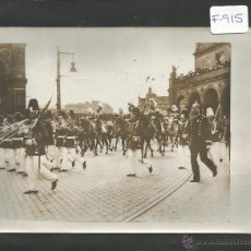Fotografía antigua: CHARLES DELIUS-PARIS-FOTOGRAFIA MILITAR PRINCIPIOS SIGLO XX-SELLO EN EL REVERSO-12X16 CM-(F-915). Lote 47536469
