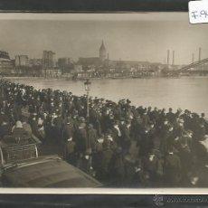 Fotografía antigua: M. ROL -PARIS -FOTOGRAFIA INUNDACIONES 1910 -SELLO EN EL REVERSO Y TEXTO -13X18 CM-(F-944). Lote 47536826