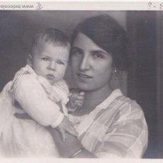 Fotografía antigua: F- 165. PRECIOSA FOTOGRAFIA AÑO 1920. MADRE E HIJO.. Lote 47847662