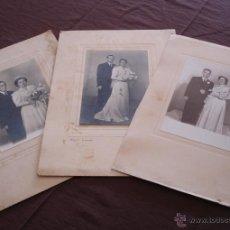 Fotografía antigua: LOTE DE 3 FOTOGRAFÍAS EN BLANCO Y NEGRO - AÑOS 60 APROX.. Lote 47887305