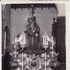 Fotografía antigua: SEMANA SANTA SEVILLA - ESTAMPA FOTOGRAFICA RECUERDO SALIDA 1958 - FOTO SERRANO - JESUS GRAN PODER. Lote 48038074
