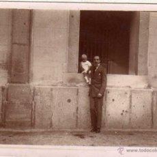 Fotografía antigua - Fotografía 9 x 12 cm el rey Alfonso XIII con su primogénito. No figura fotógrafo. - 48285511