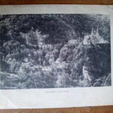 Fotografía antigua: FOTOGRAFÍA FOTO COVADONGA (ASTURIAS). ARMÁN. VESA. MATERIALES CONSTRUCCIÓN VIGIL ESCALERA, OVIEDO. Lote 48827884