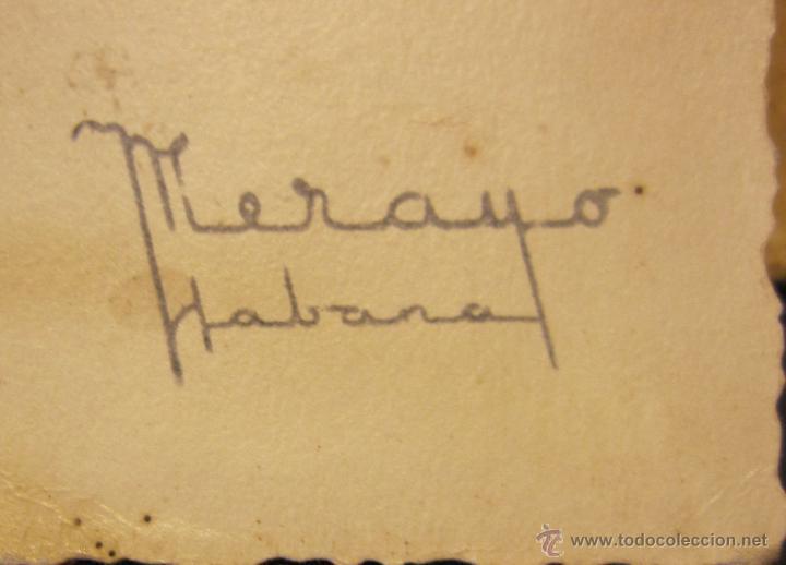 Fotografía antigua: RETRATO MATRIMONIO. FOTOGRAFO MERAYO, HABANA1946. 19,5 X 28 CM - Foto 2 - 49529827