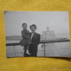 Fotografía antigua: FOTOGRAFÍA FARO PUERTO PALMA DE MALLORCA. AÑOS 50. Lote 49599807