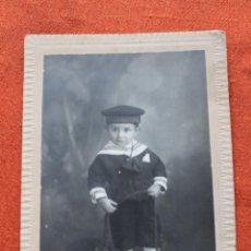 Fotografía antigua: FOTO NIÑO VESTIDO MARINERO, 1919, DERREY VALENCIA. Lote 49766449