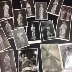 Fotografía antigua: LOTE DE 16 FOTOS PASOS Y IMÁGENES DE SEMANA SANTA. Lote 49873022