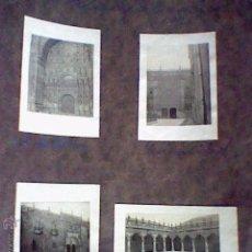 Fotografía antigua: LOTE 4 FOTOS 7 X 5 CMS PEGADAS CARTULINA SALAMANCA 1925 . Lote 50269807