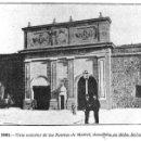 Fotografía antigua: CARTAGENA- PUERTAS DE MADRID- 1901- DEMOLIDAS EN 1901- FOTOS SINGULARES-. Lote 50415227