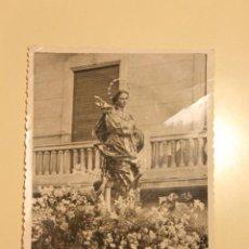 Fotografía antigua: FOTOGRAFÍA PROCESIÓN CON SOLDADO, INMACULADA, MULA MURCIA 1946. Lote 51038553