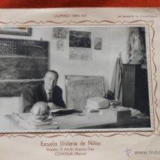 Fotografía antigua: FOTO ESCUELA UNITARIA DE NIÑOS, COVATILLAS MURCIA CURSO 1961-62. Lote 50766528