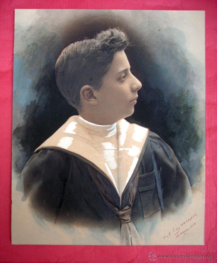 FOTOGRAFIA NAPOLEÓN - FIRMADA Y COLOREADA - 1910 - 1915 (Fotografía - Artística)