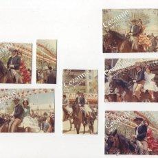 Fotografía antigua: FERIA DE ABRIL DE SEVILLA C. 1964. Lote 51027498