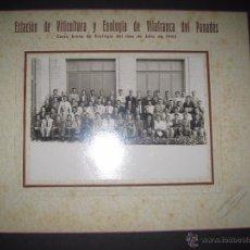 Fotografía antigua: ESTACION ENOLOGICA DE VILAFRANCA DEL PANADES -AÑO 1943- MIDE 12X17 CM-(V-3024) . Lote 51152398